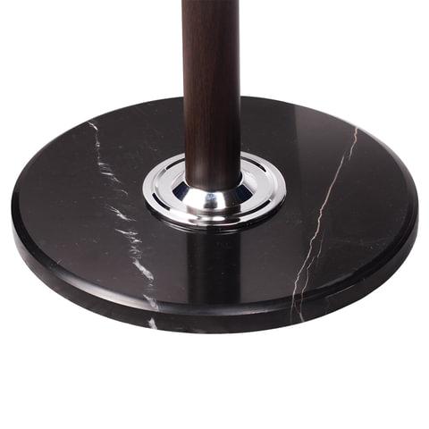 """Вешалка-стойка """"CR-274"""", металл/мрамор, 1,8 м, на диске диаметром 38 см, 5 крючков + 4 дополнительных, венге"""