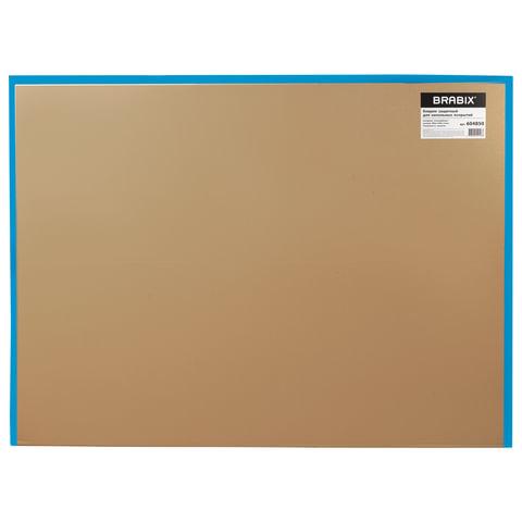 Коврик защитный для напольных покрытий , поликарбонат, 90х120 см, шагрень, толщина 1,8 мм