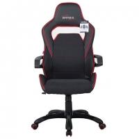 """Кресло компьютерное """"Nitro GM-001"""", ткань, экокожа, черное, вставки красные"""