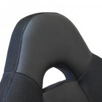 """Кресло офисное """"Fusion EX-560"""", экокожа/ткань, хром, черное"""