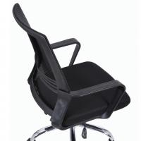 """Кресло """"Daily MG-317"""", с подлокотниками, хром, черное"""