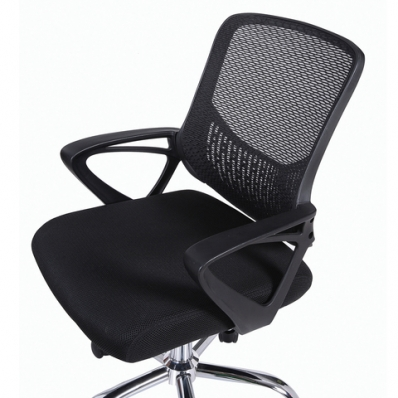 """Кресло """"Next MG-318"""", с подлокотниками, хром, черное"""