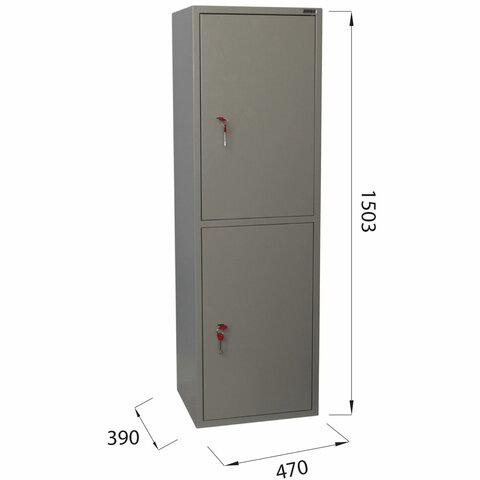 "Шкаф металлический для документов ""KBS-032Т"", 1503х470х390 мм, 37 кг, трейзер, сварной"
