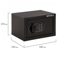"""Сейф мебельный """"SF-170EL"""", 170х260х230 мм, электронный замок, черный, S103BR210614"""