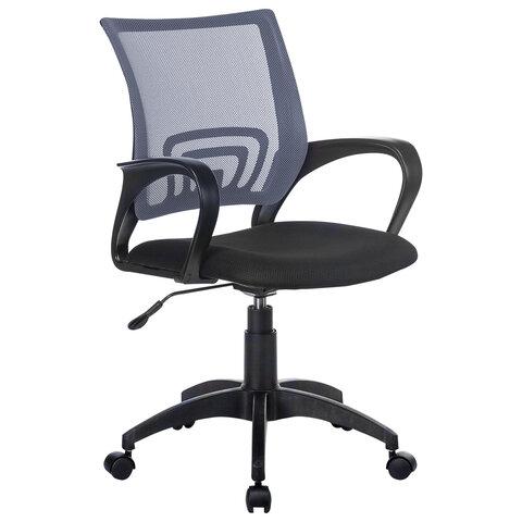 """Кресло """"Fly MG-396"""", с подлокотниками, сетка, серое/черное"""