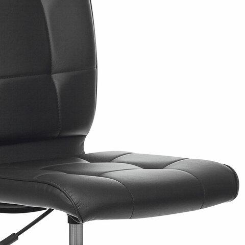 """Кресло """"Stream MG-314"""", без подлокотников, пятилучие серебристое, экокожа, черное"""