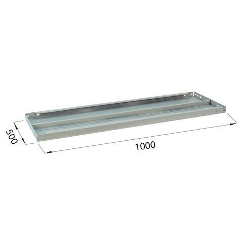 """Полка к металлическому стеллажу """"MS/MS KD"""", 1000х500 мм, КОМПЛЕКТ 2 шт., с фурнитурой, S241BR205102"""