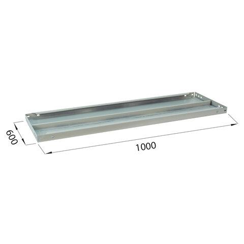 """Полка к металлическому стеллажу """"MS/MS KD"""", 1000х600 мм, КОМПЛЕКТ 2 шт., с фурнитурой, S241BR206102"""