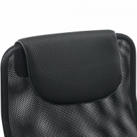 """Кресло офисное """"Fit EX-514"""", с подголовником, хром, черное"""