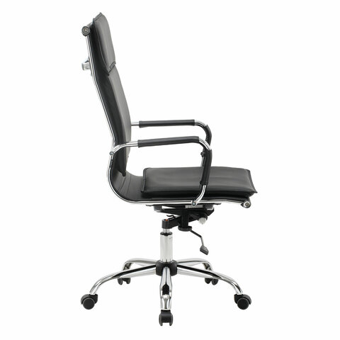 """Кресло офисное """"Cube EX-523"""", экокожа, хром, черное"""