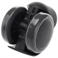 Колеса (ролики) для кресла, прорезиненные, КОМПЛЕКТ 5 шт., шток d11 мм, черные, в коробе
