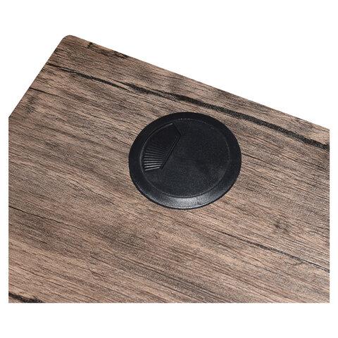 "Стол на металлокаркасе ""LOFT CD-006"", 1200х500х730 мм, 2 полки, цвет морёный дуб"
