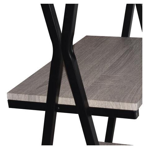 "Стол на металлокаркасе ""LOFT CD-004"", 1200х535х1110 мм, 3 полки, цвет дуб антик"