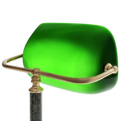 Светильник настольный из мрамора, основание - зеленый мрамор с золотистой отделкой