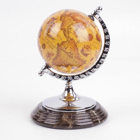 """Набор настольный """"Spanish Emperador"""" из испанского мрамора, 10 предметов, коричневый"""