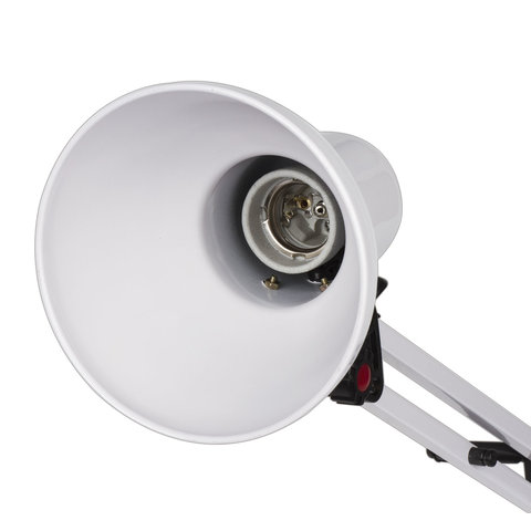 Светильник настольный TL-007, на подставке + струбцина, 40 Вт, Е27, БЕЛЫЙ, высота 60 см