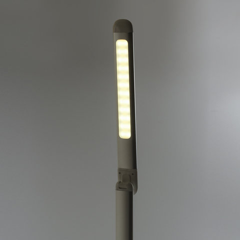 Светильник настольный BR-896, на подставке, светодиодный, 10 Вт, алюминий, серебряный