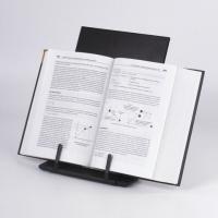 Подставка для книг, учебников, большая, регулируемый наклон, металл/пластик, черная