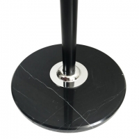 "Вешалка-стойка ""CR-8243"" на мраморном диске, металл, 6+3 крючка, цвет черный"
