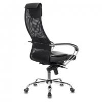 """Кресло офисное PREMIUM """"Stalker EX-609 PRO"""", хром, мультиблок, ткань-сетка/экокожа, черное"""