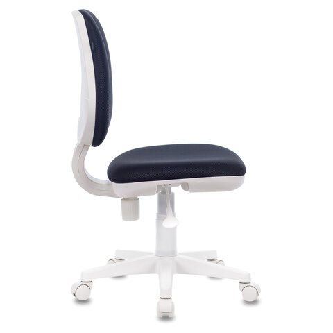 """Кресло """"Fancy MG-201W"""", без подлокотников, пластик белый, серое"""
