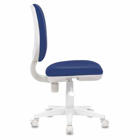 """Кресло """"Fancy MG-201W"""", без подлокотников, пластик белый, синее"""