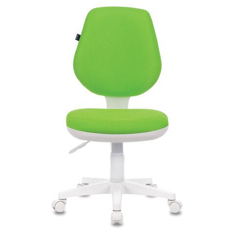 """Кресло """"Fancy MG-201W"""", без подлокотников, пластик белый, салатовое"""