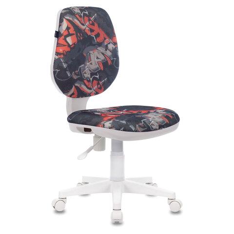 """Кресло """"Fancy MG-201W"""", без подлокотников, пластик белый, с рисунком """"Graffity"""""""
