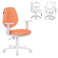 """Кресло """"Fancy MG-201W"""", с подлокотниками, пластик белый, с рисунком """"Giraffe"""""""