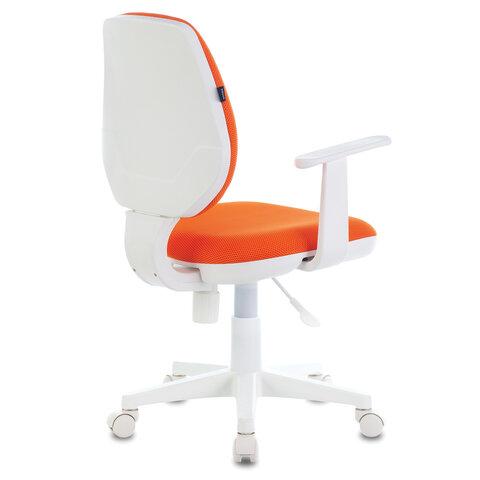 """Кресло """"Fancy MG-201W"""", с подлокотниками, пластик белый, оранжевое"""