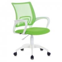 """Кресло """"Fly MG-396W"""", с подлокотниками, пластик белый, сетка, салатовое"""