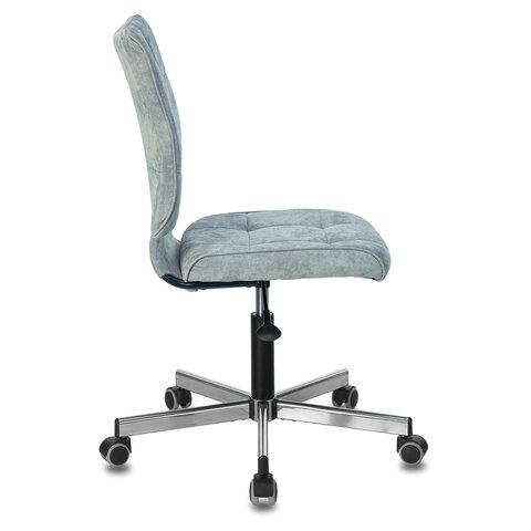 """Кресло """"Stream MG-314"""", без подлокотников, пятилучие серебристое, ткань, серо-голубое"""