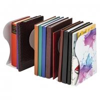 Подставка-держатель для книг и учебников, раздвижная, металлическая, белая с печатью